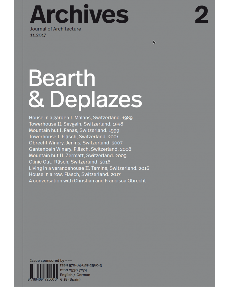 Archives nº 2- Bearth & Deplazes