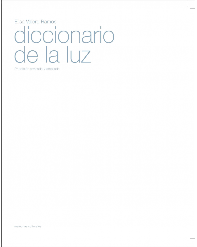 Diccionario de la luz elisa valero for Diccionario de arquitectura pdf