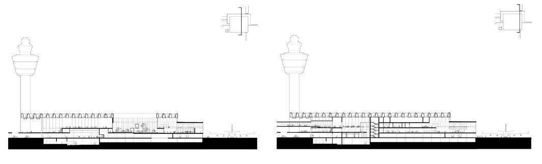 Descarga planos de Nueva Terminal del Aeropuerto de Ámsterdam-Schiphol