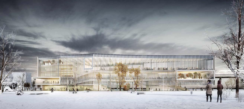 Learning Center en el Campus Universitario París Saclay