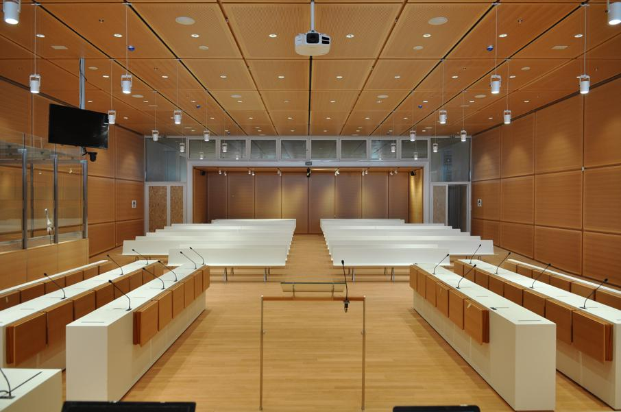Sala del Tribunal de París de Renzo Piano