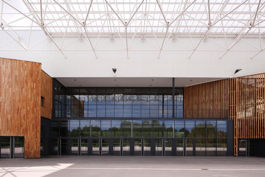 Frontal exterior de Parc des expositions de Caen