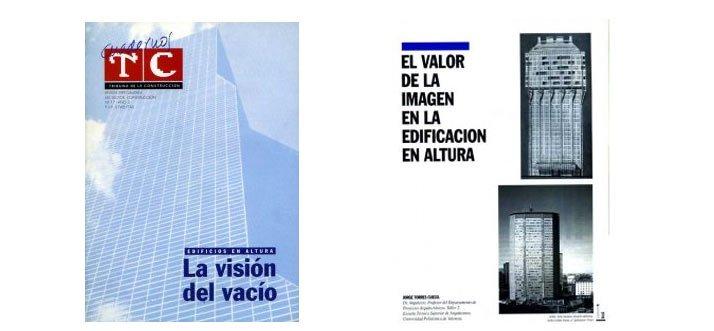 """Portada TC Cuadernos 17Artículo """"El valor de la imagen en la edificación en altura"""" de J. Torres"""