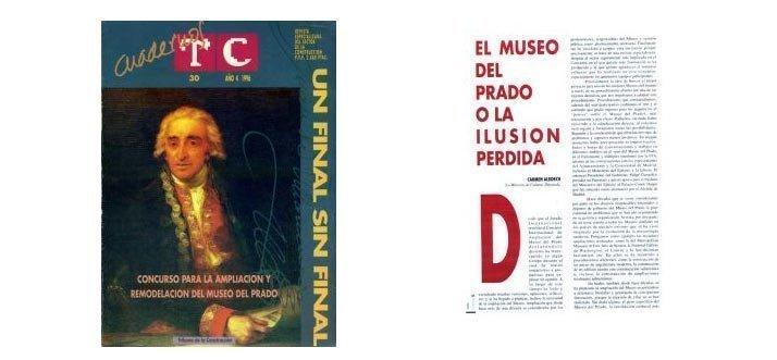 """Portada TC Cuadernos 30Artículo """"El museo del Prado o la ilusión perdida"""" de C. Alborch"""