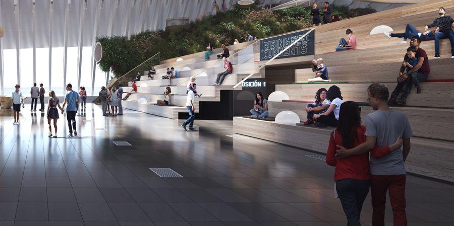 Interior del nuevo Caixa Forum de Valencia