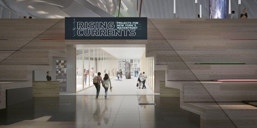Acceso sala de exposiciones del nuevo Caixa Forum de Valencia