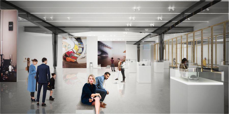 Sala de exposiciones del nuevo Caixa Forum de Valencia