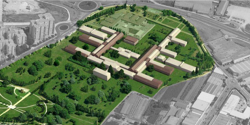 Render de centro psiquiátrico en Pamplona