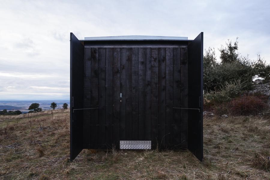 Exterior del pabellón de vigilancia