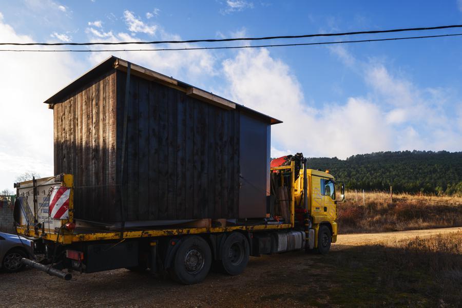 Transporte de una de las unidades
