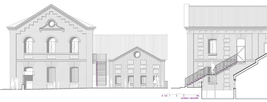 Alzado-sección | MCVR Arquitectos