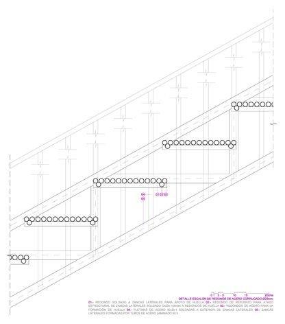 Detalle escalón | MCVR Arquitectos