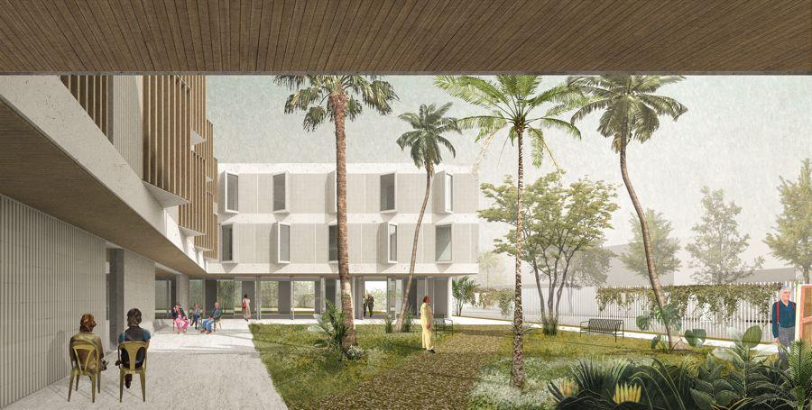 Residencia Asistida en Palma de Mallorca,patio interior | Paredes Pedrosa