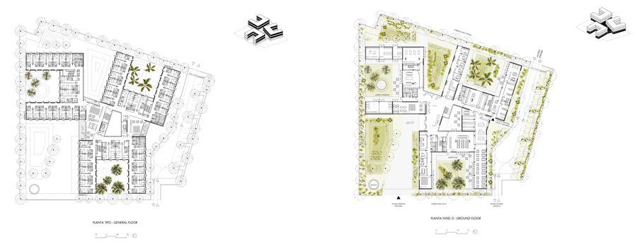 Residencia Asistida en Palma de Mallorca, Plantas | Paredes Pedrosa