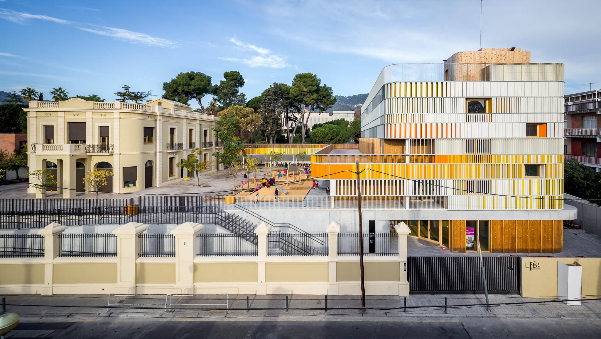 Colegio histórico y Edificio nuevo del Liceo Francés de Barcelona, B720 arquitectos