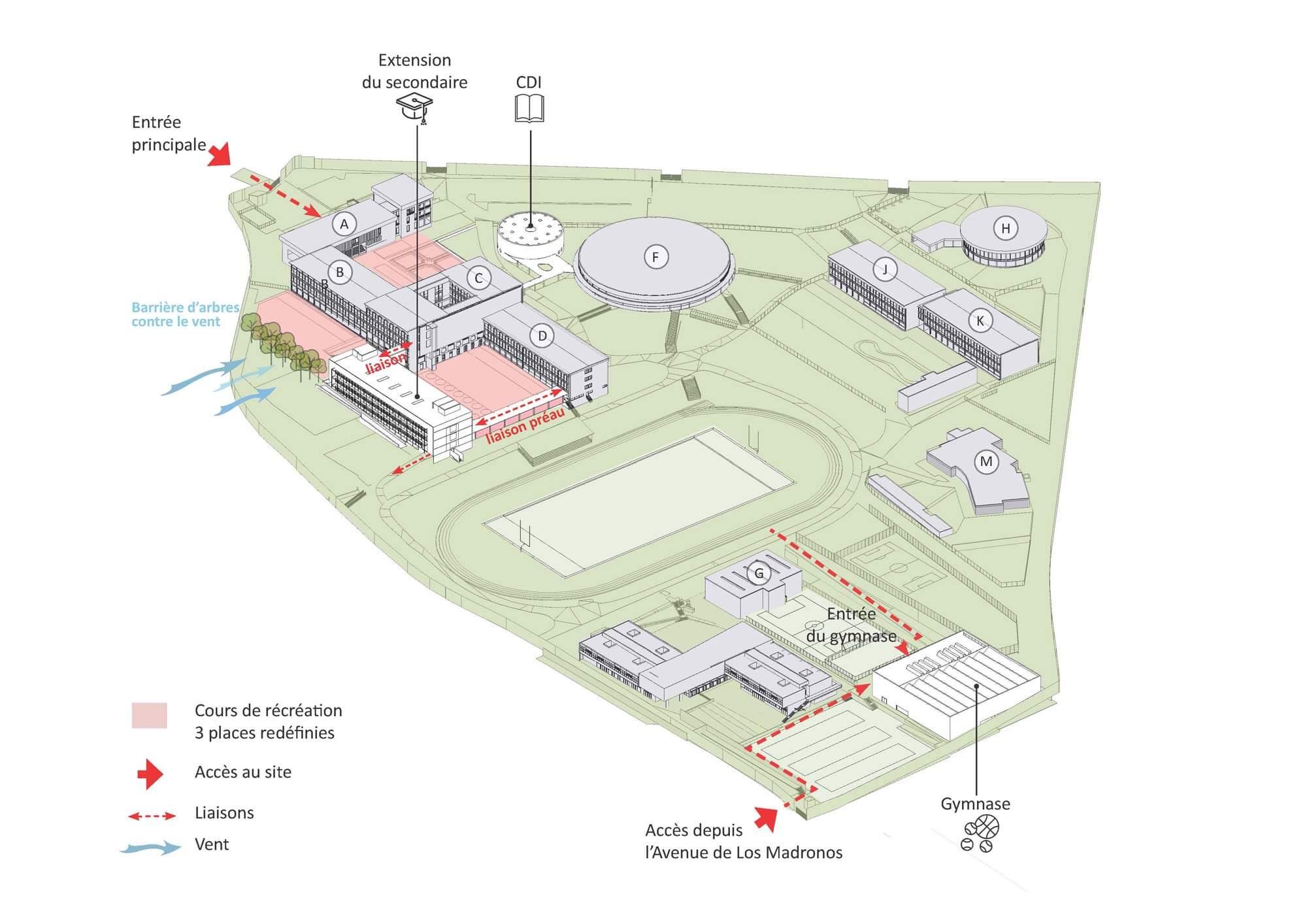 Liceo Frances Madrid Campo Baeza Esquema general