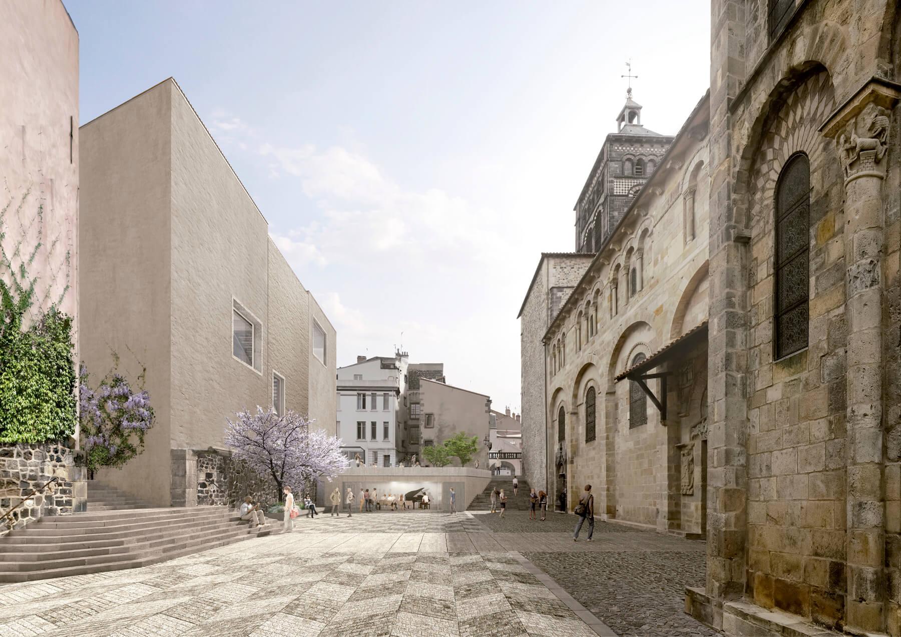 Linazasoro remodelacion basilica clermont vista 2