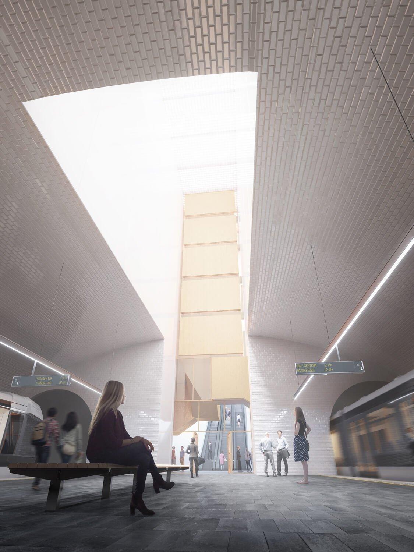 luz cenital estacion metro oslo plataforma