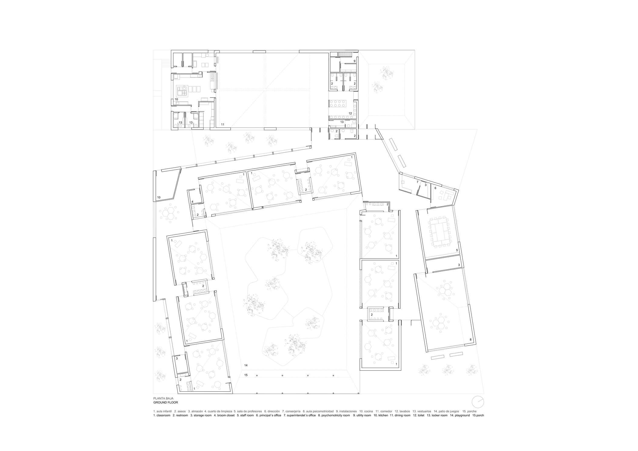 planta magen arquitectos colegio arcosur zaragoza