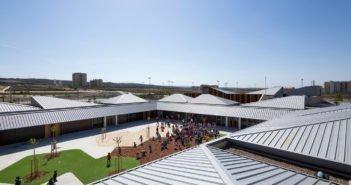 exterior magen arquitectos colegio arcosur zaragoza