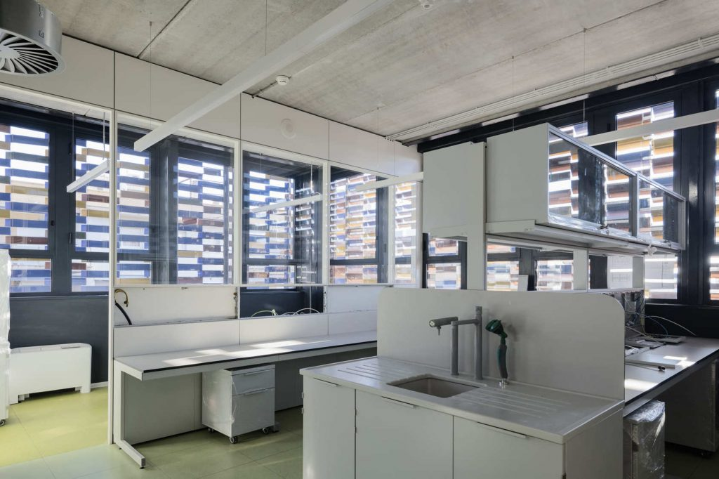 Interior centro investigación Sant Pau