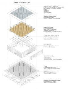 Axonometría Construtiva Batea en tierra