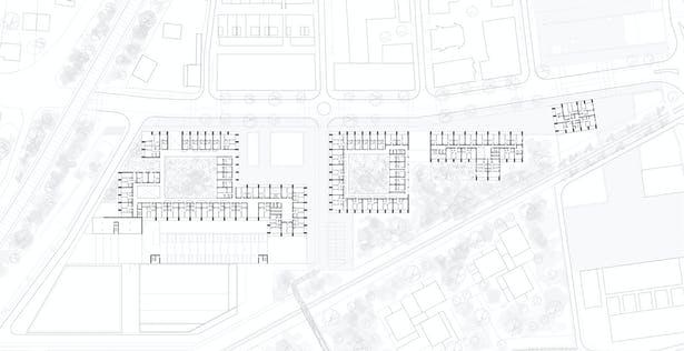 Plano de emplazamiento KAAN Architecten