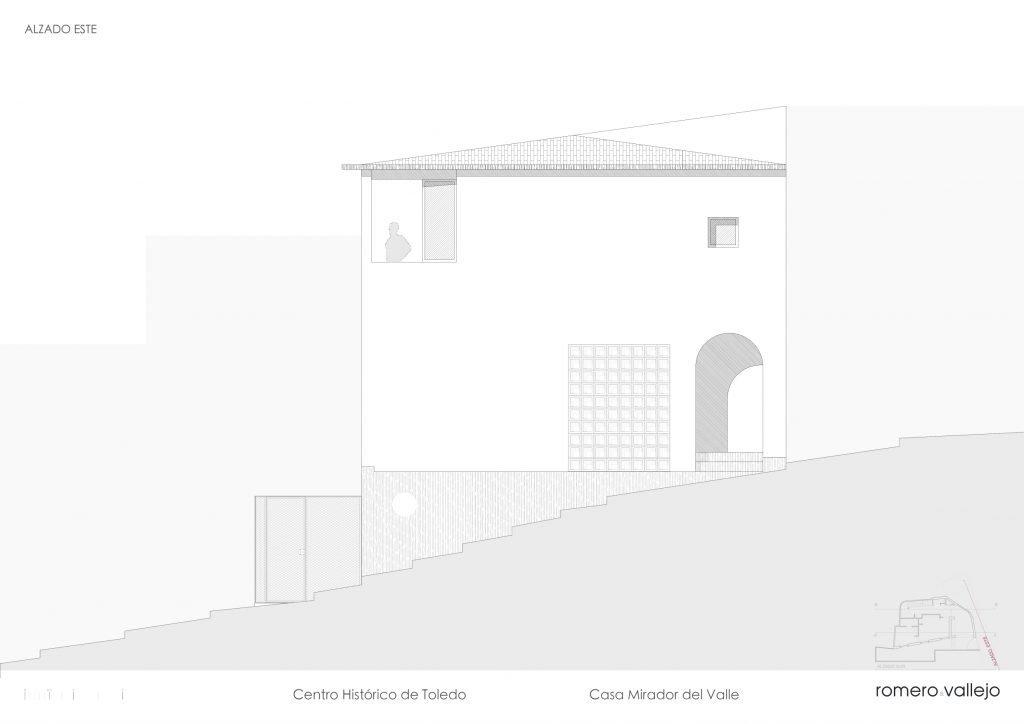 alzado casa mirador
